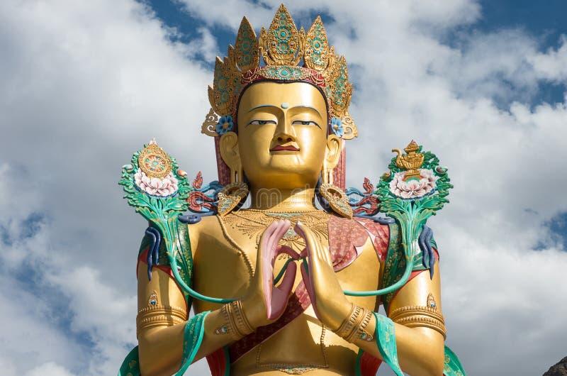 Maitreya Boedha bij Nubra-vallei, ladakh India royalty-vrije stock foto