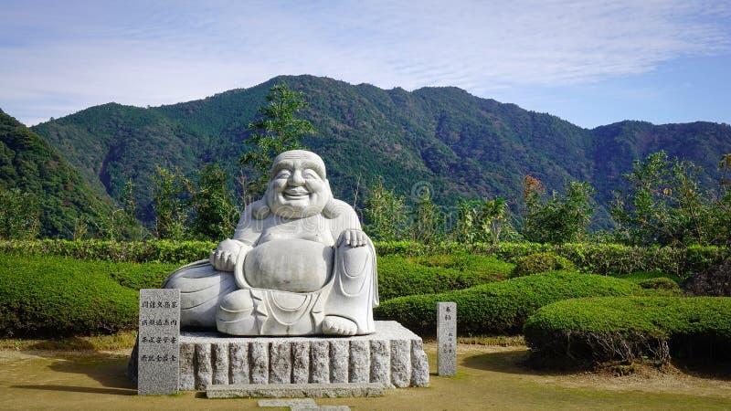 Maitreya Boedha in de Slepen van Kumano Kodo royalty-vrije stock fotografie