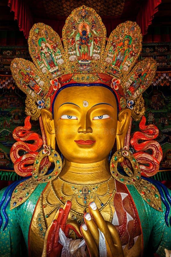 Maitreya Boedha in Thiksey Gompa royalty-vrije stock fotografie