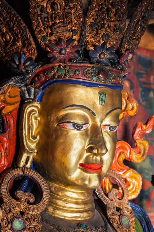 Maitreya Boedha Thiksey Gompa Ladakh, India royalty-vrije stock foto