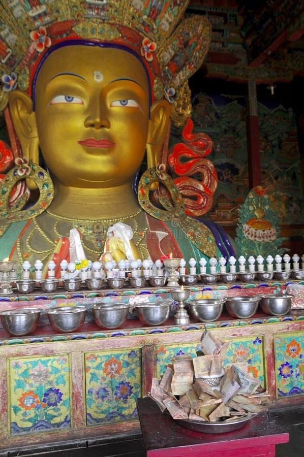 Maitreya Bouddha de Thiksey images libres de droits