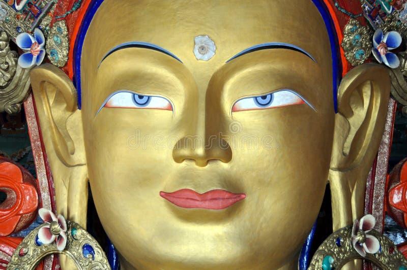 Maitreya - het Toekomstige standbeeld van Boedha van Ladakh royalty-vrije stock fotografie