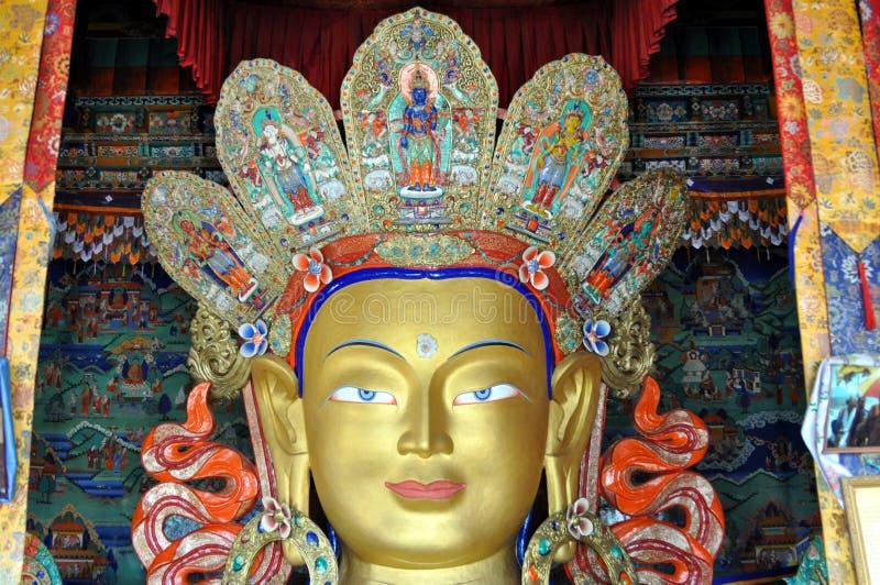Maitreya - zukünftige Buddha-Statue von Ladakh lizenzfreies stockfoto