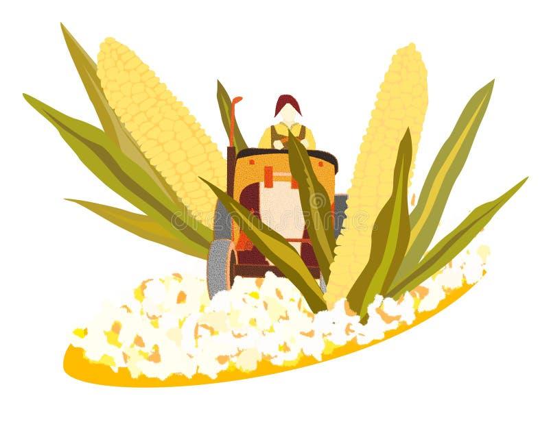 maizepopcorn till vektor illustrationer