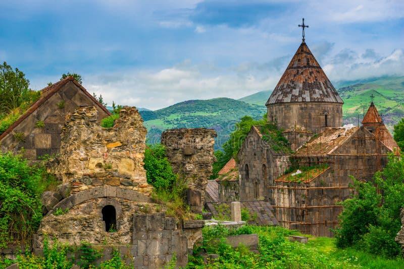 Majątek Armenii - starożytny, autentyczny klasztor chrześcijański obraz stock