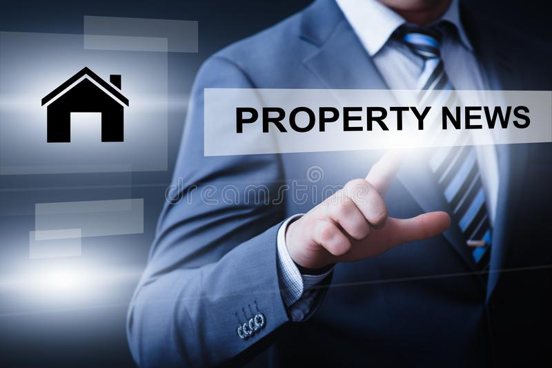 Majątkowego zarządzanie inwestycyjne rynku nieruchomości technologii Internetowy Biznesowy pojęcie zdjęcie stock