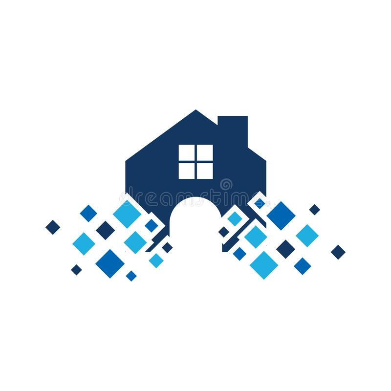 Majątkowy piksla loga ikony projekt royalty ilustracja