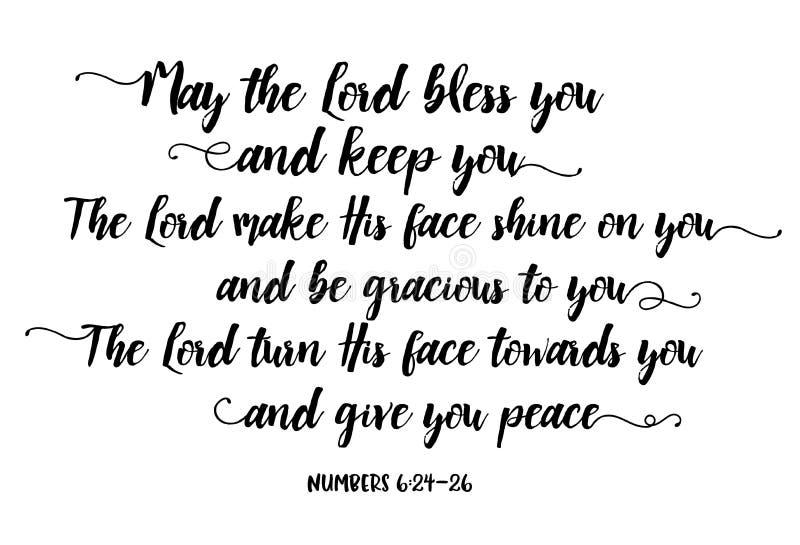 Maj Błogosławi ciebie i Utrzymuje Ciebie władyka ilustracji
