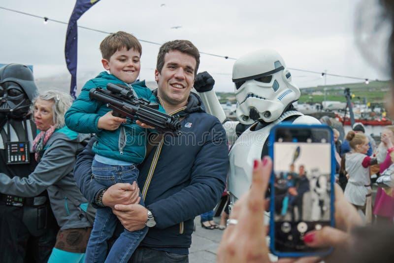 Maj być z tobą fourth Star Wars festiwal zdjęcia stock