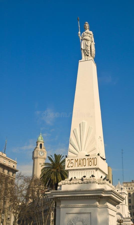 Maj ostrosłup, Buenos Aires, Argentyna fotografia royalty free