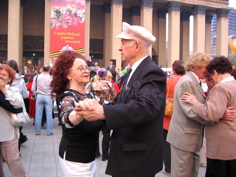 Maj 9, 2009 segerdag i Novosibirsk festligheter royaltyfri foto