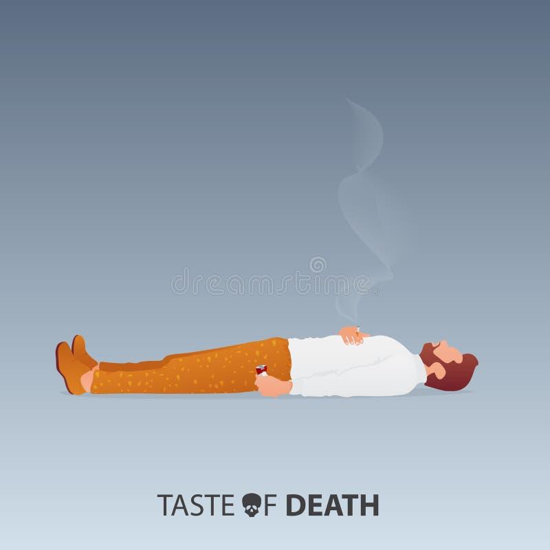 Maj 31st v?rld ingen tobakdag Inget - r?ka dagmedvetenhet Stoppa att r?ka aktionen Död av rökarebegreppet vektor royaltyfri illustrationer