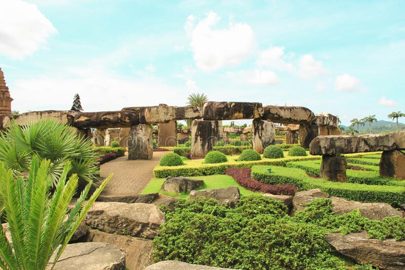 Maj 6, 2011 Tajlandia Pattaya Tropikalny Parkowy Nong Nooch, pięknego ogrodowego trawy botaniki punktu zwrotnego kolorowego ładne fotografia royalty free