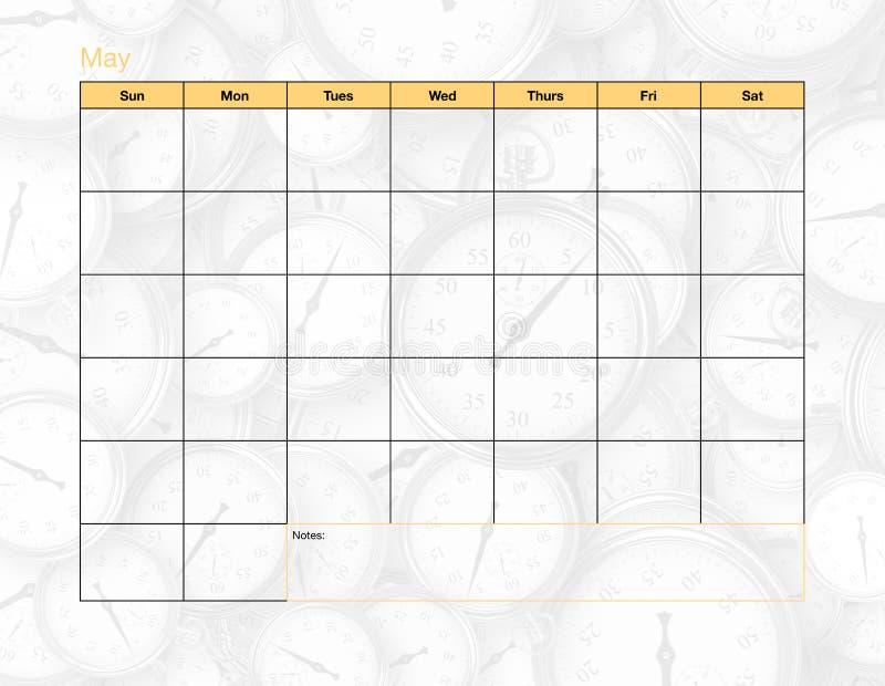 Maj tom kalender arkivfoton