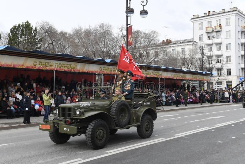 Maj 9, 2018 Tyumen royaltyfri fotografi