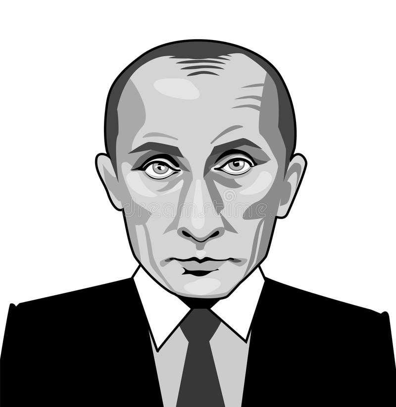 Maj 25 2017 Vladimir Putin ilustracja wektor