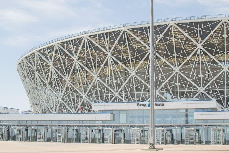 Maj 23, 2018 Volgograd, Ryssland Ny fotbollsarenaVolgograd arena fotografering för bildbyråer