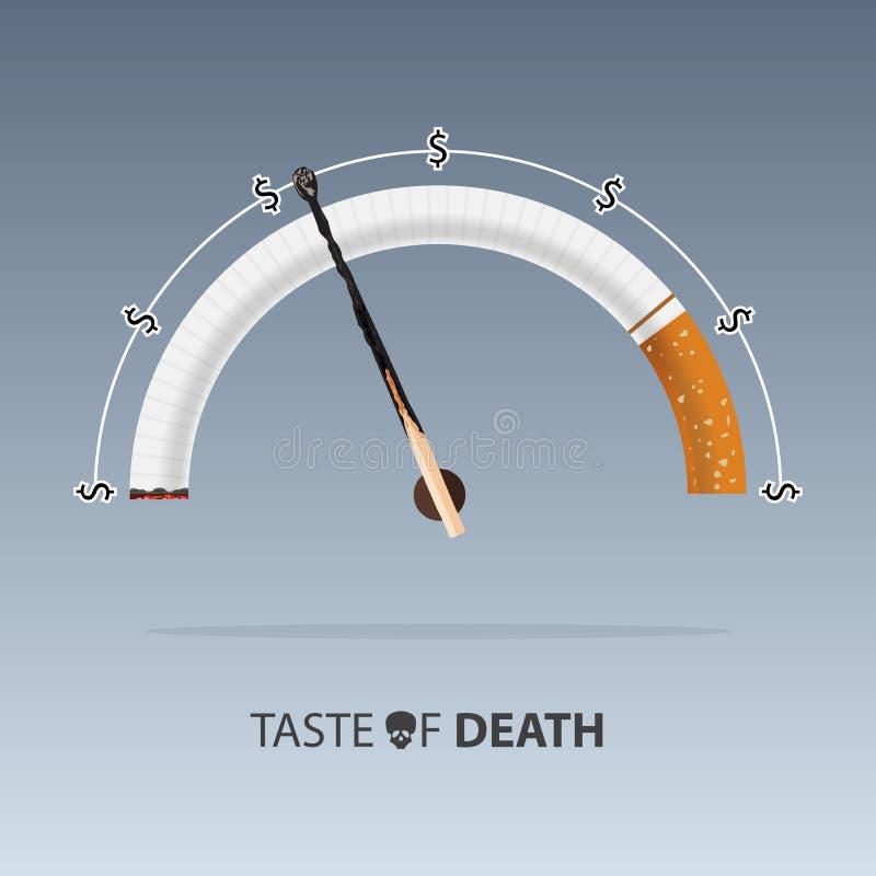 Maja 31st świat żadny tabaczny dzień Choroby papieros wektor ilustracja wektor