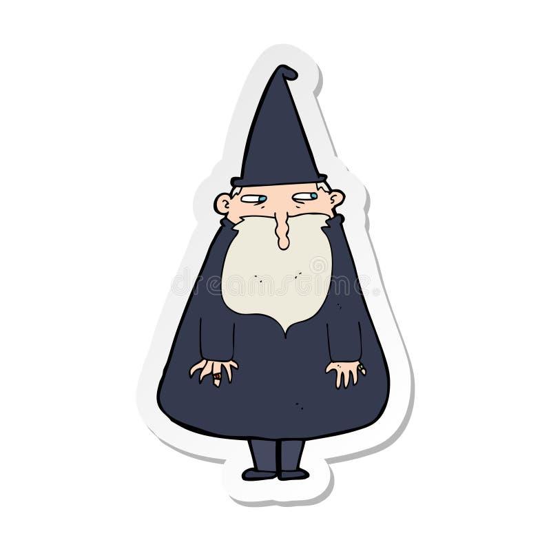 Majcher kreskówka czarownik ilustracji