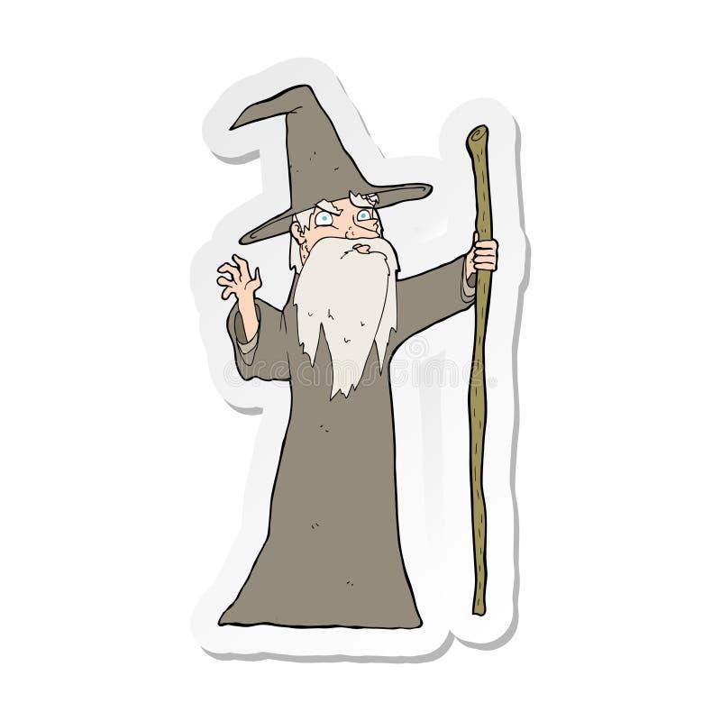 majcher kresk?wka stary czarownik royalty ilustracja
