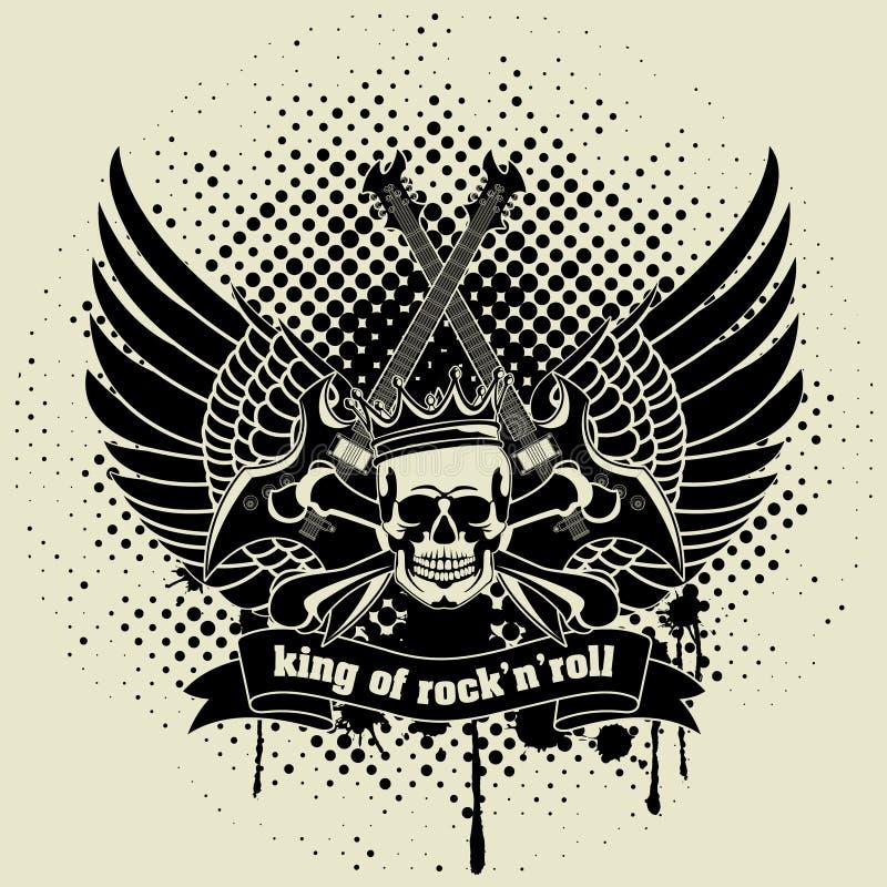 Majcher na koszula wizerunek gitara skrzydło royalty ilustracja