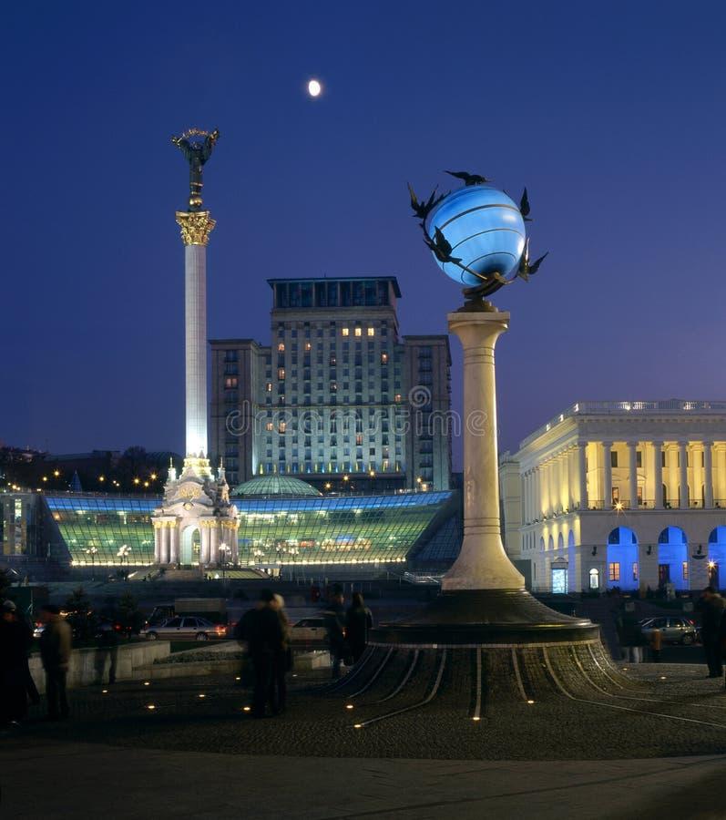 Majdan Nezalezhnosti - wieczór zdjęcie royalty free