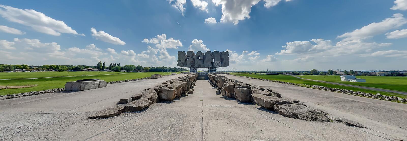 Majdanek纪念碑 图库摄影