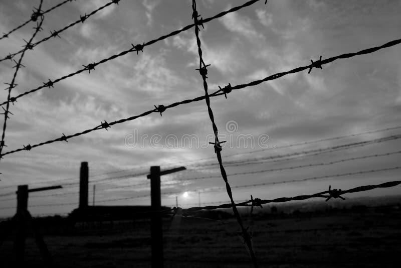 Majdanek_concentrationkamp stock foto's