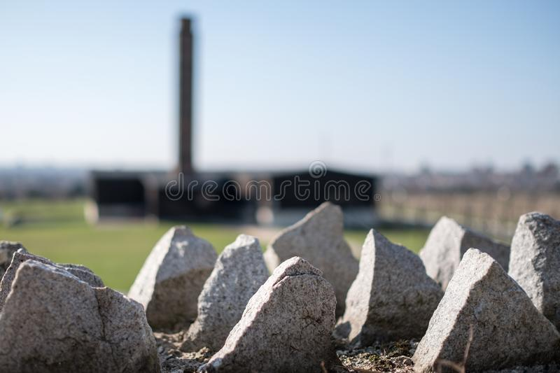 Majdanek Koncentracyjny obóz Drugi wojny światowa Nazistowski Niemiecki koncentracyjny obóz w Lublin Polska zdjęcia stock