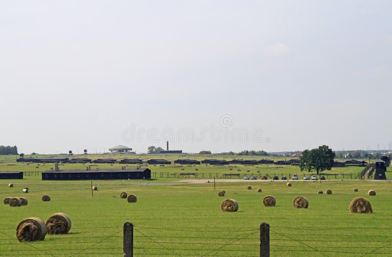 Majdanek koncentracyjny obóz na obrzeżach Lublin fotografia royalty free