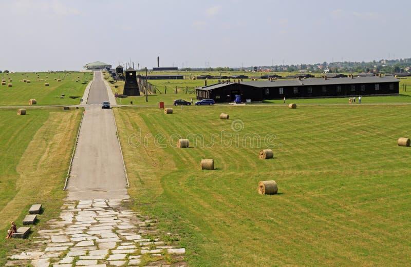 Majdanekconcentratiekamp op de rand van Lublin royalty-vrije stock foto
