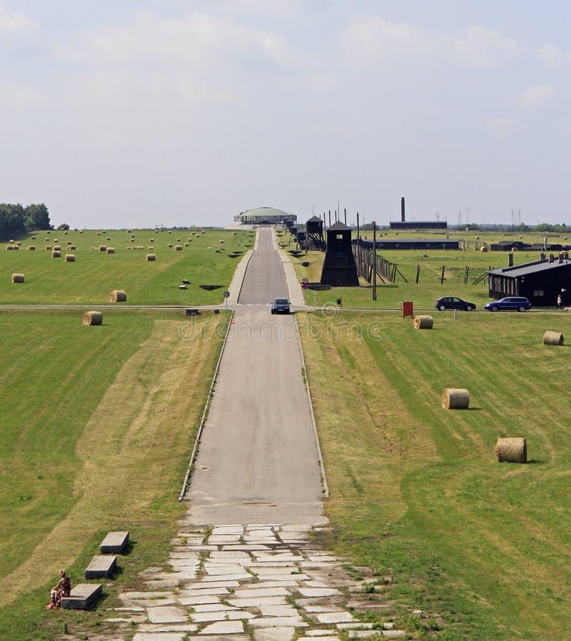 Majdanekconcentratiekamp op de rand van Lublin royalty-vrije stock afbeeldingen