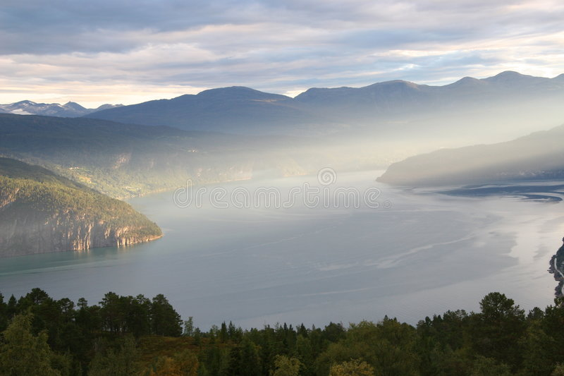 Download Majectic Morning On Fjord Royalty Free Stock Image - Image: 1724746
