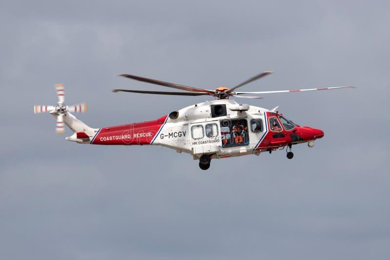 MAJESTÄT Coastguard Helicopter stockbild