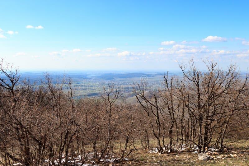 Majestätische Ansicht vom Berg Chater-Dag lizenzfreie stockbilder