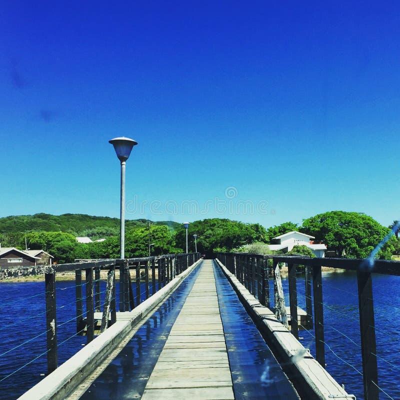 Majestätische Brücken-Lagune stockfoto