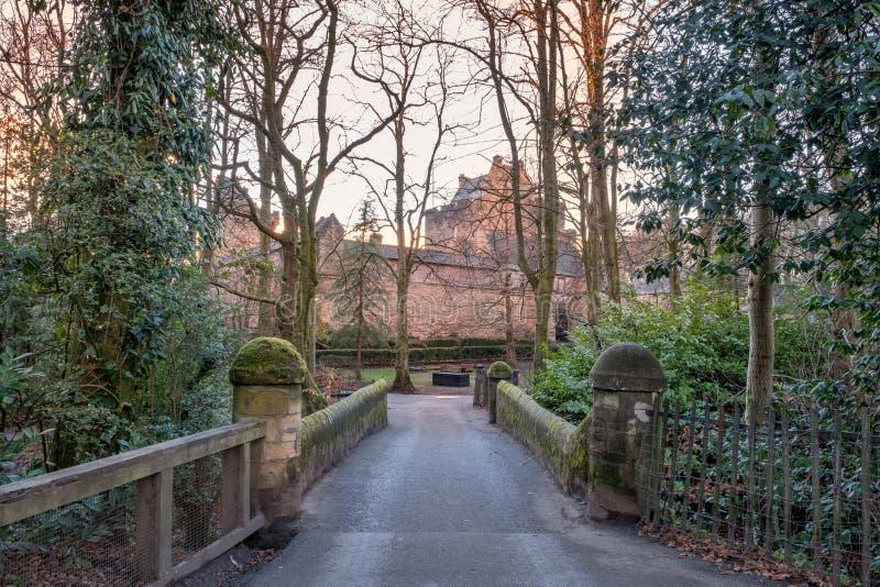 Majestätische Gebäude von Dekanschloss in Ostayrshire-rind Kilmarnock Sc lizenzfreie stockfotos