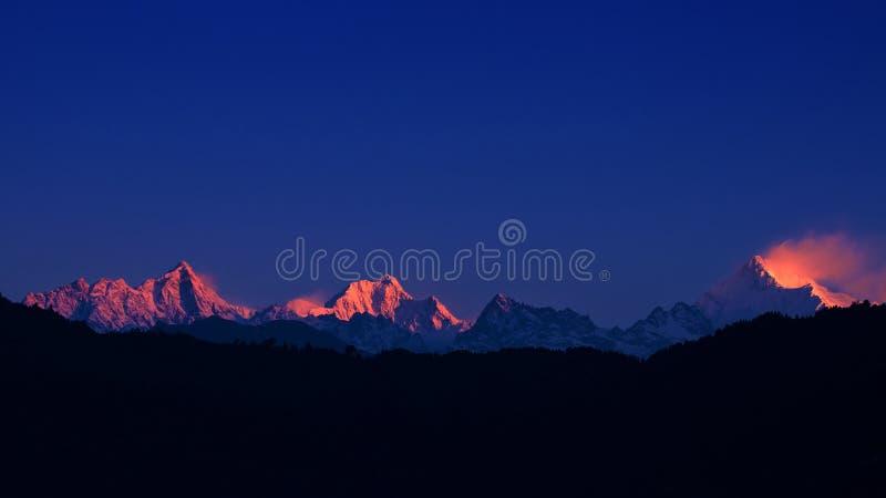 majestätisk kanchenjunga royaltyfri fotografi