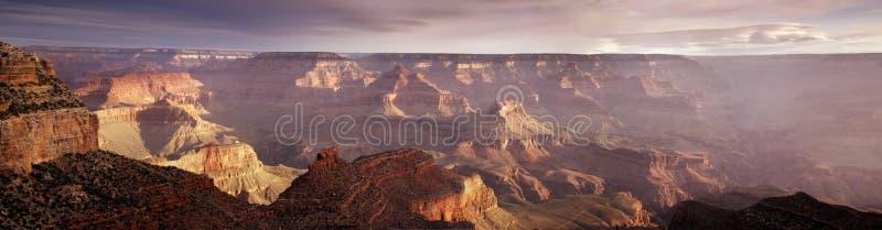 Majestätisk panorama- soluppgång södra Rim Grand Canyon National Park Arizona royaltyfria bilder