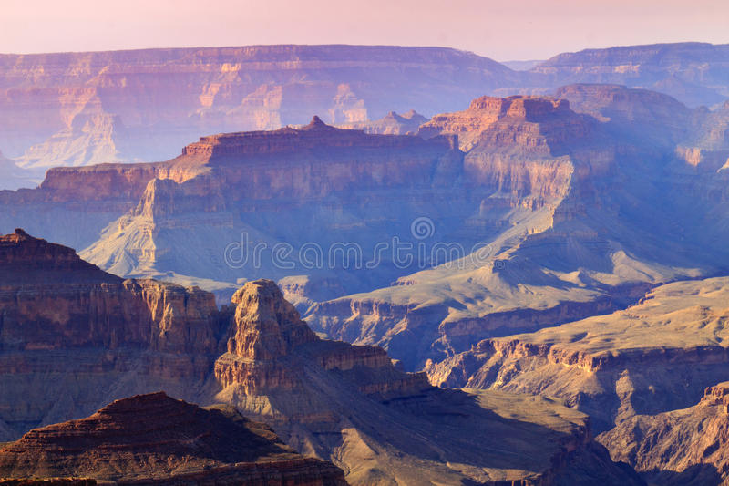 Majestätisk solnedgång södra Rim Grand Canyon National Park Arizona royaltyfri bild