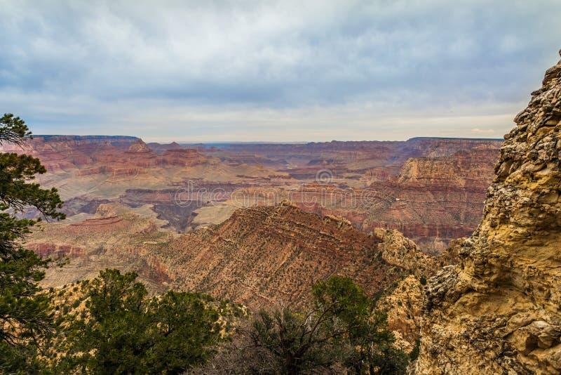 Majestätiska Grand Canyon, Arizona, Förenta staterna arkivfoto