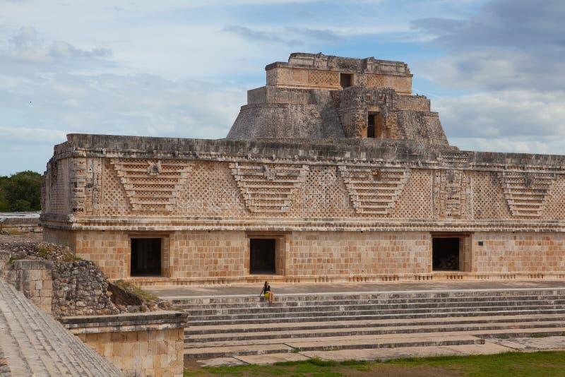 Majestätiskt fördärvar i Uxmal, Mexico fotografering för bildbyråer