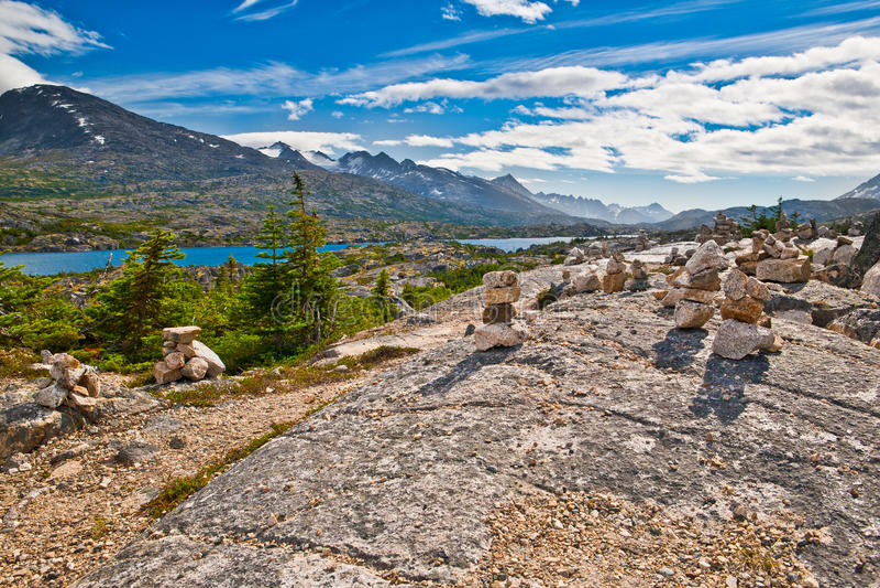 majestätiskt skagway för alaska liggande arkivfoto