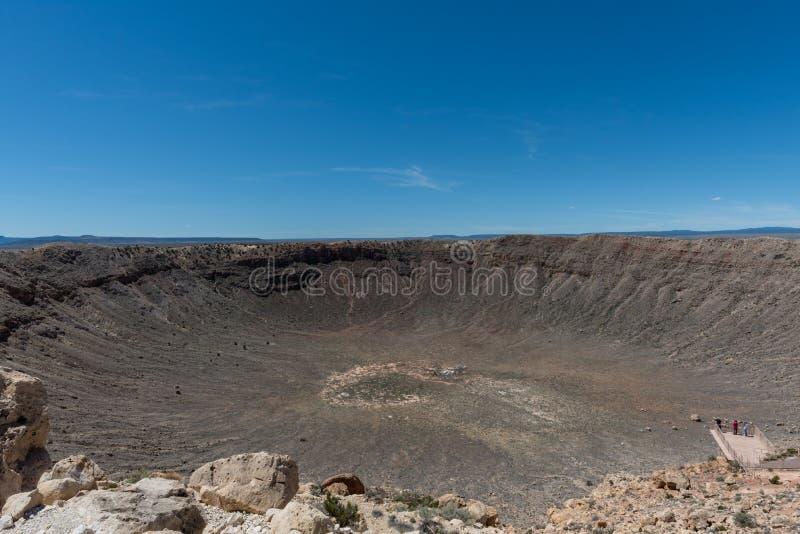 Majest?tische Meteor Crater-Aussicht, Nord-Arizona stockfoto
