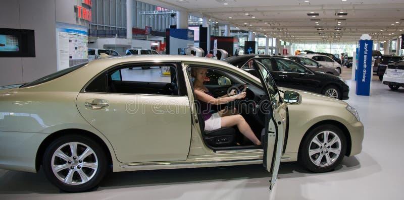 2017 Majesta-Kroon Toyota-Auto japan royalty-vrije stock afbeelding