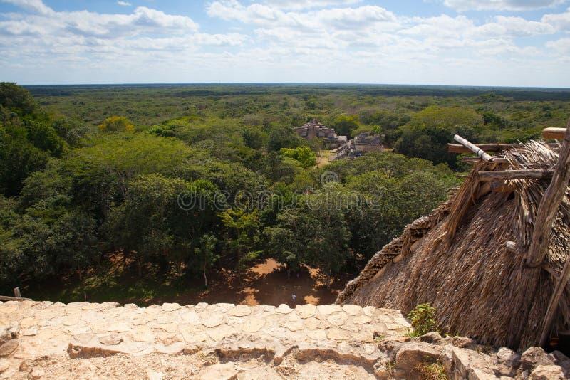 Majestatyczne ruiny w Ek Balam Yucatà ¡ n, Meksyk zdjęcie stock