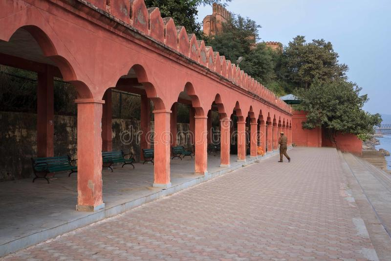 Majestatyczny Akhnoor fort fotografia stock
