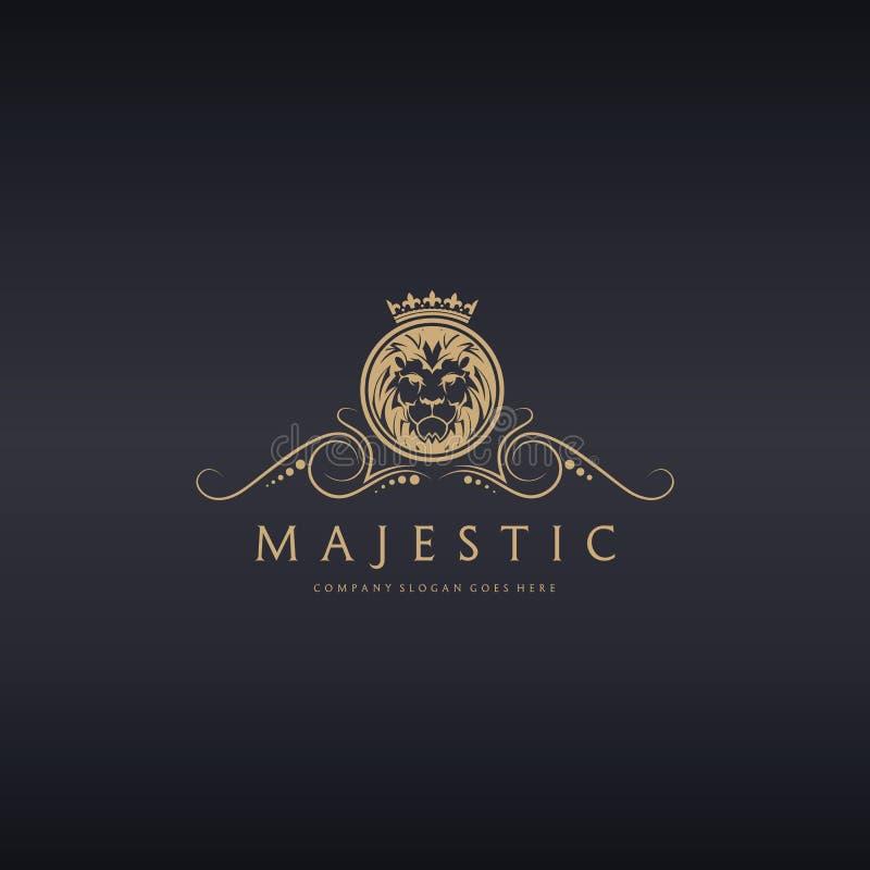 majestatyczny Lwa logo zdjęcie royalty free