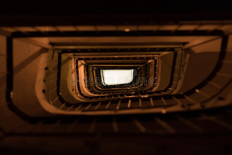 Majestatyczny schody w Saloniki, Grecja fotografia royalty free
