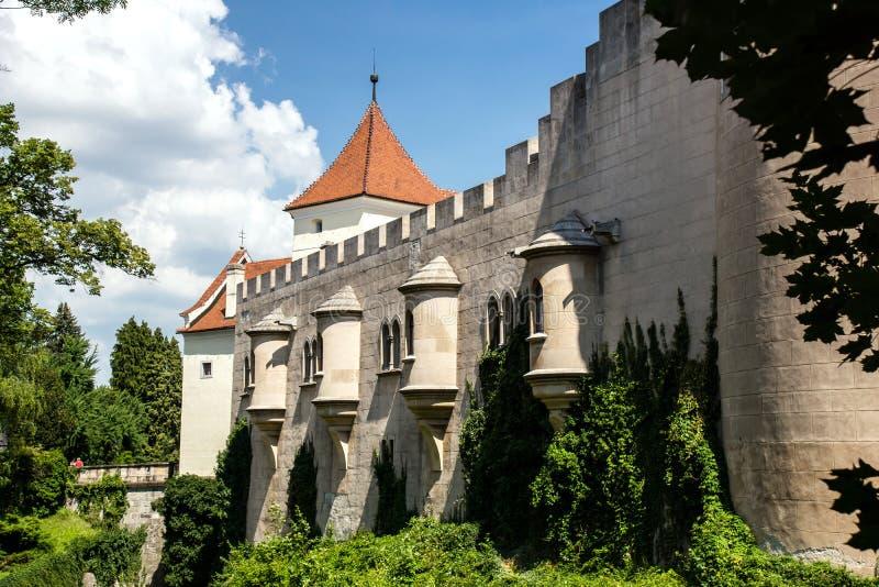 Majestatyczny stary kasztel w Bojnice, Sistani obrazy royalty free